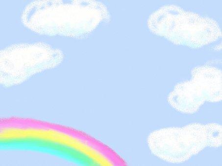 구름과 무지개 프레임