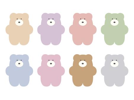 Colorful bear set