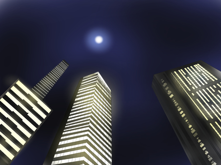 Night Building City