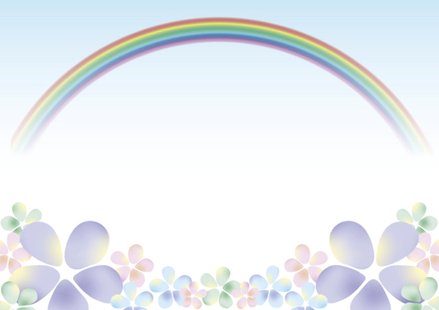 Flower and rainbow 2