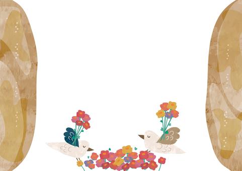鳥の花束のメッセージカード