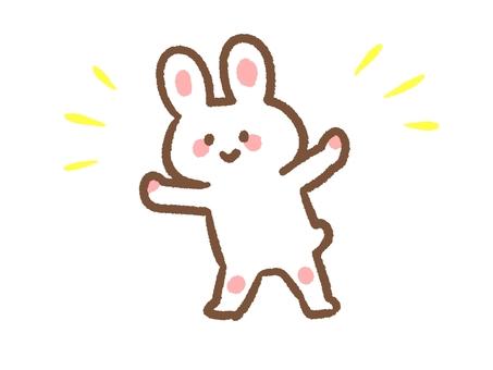 一隻小快樂的兔子