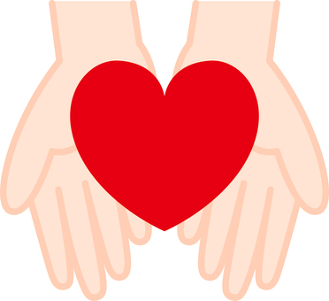 Heart _ both hands _ 03 _ red