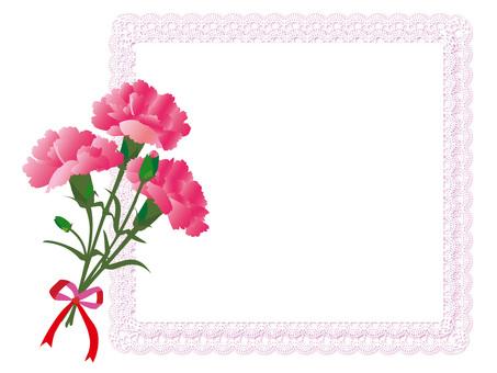 Carnation card pink (v 10)