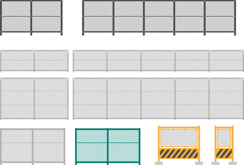 Several wire mesh fences 1