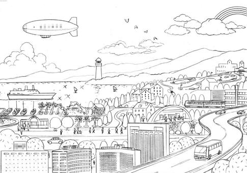 Illustration of the Keihin area
