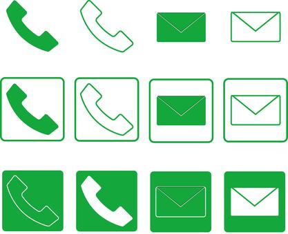 Contact icon green