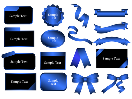 Blue Grade Ribbon & Frame Set