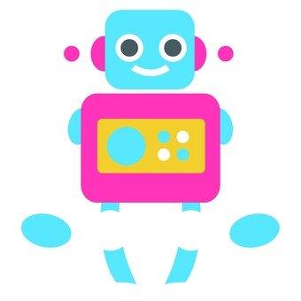 Blue face robot