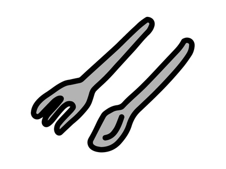 Handwritten spoons and forks