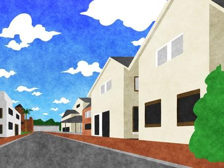 거리 풍경 배경 1
