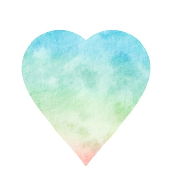 Heart pastel color material separately
