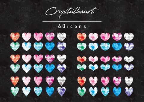 Jewelry heart illustration set