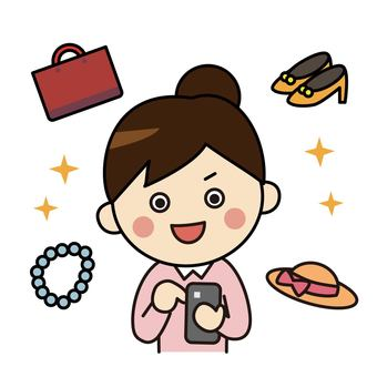 쇼핑 중독 여성