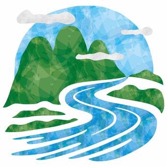 山と川/風景