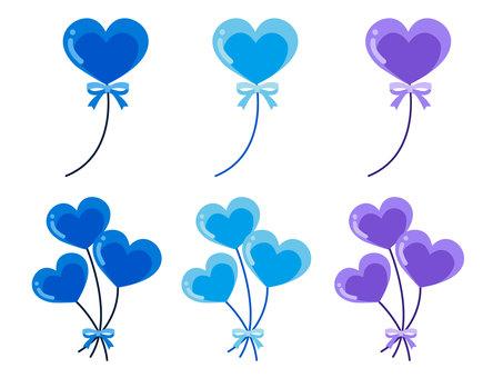 心臟氣球·藍色