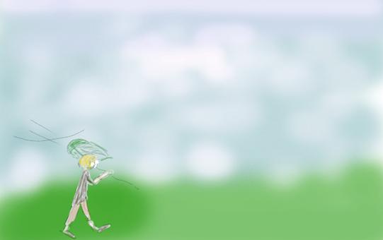 A boy in the meadow