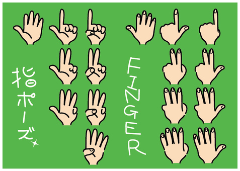 Finger sign pose