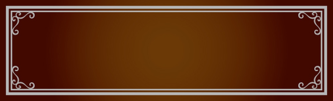 Decorative frame Brown