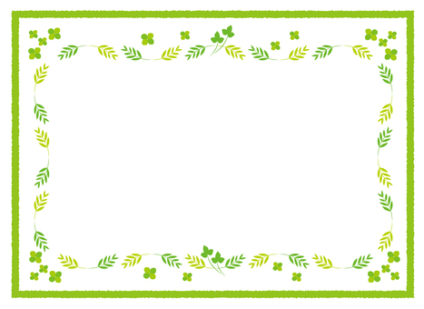 Clover and leaf frame