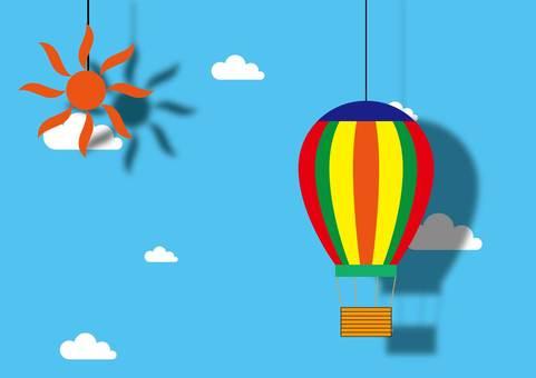 藍藍的天空和氣球商場