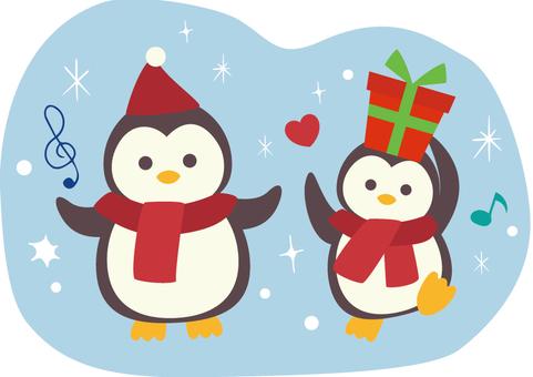 Christmas Penguin illustration