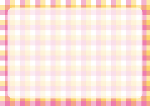Gingham check frame pink × yellow