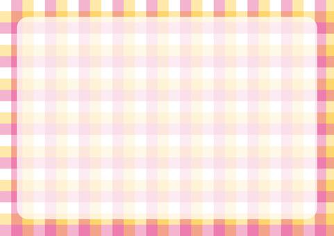 깅엄 체크 프레임 핑크 × 황색