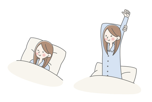 Sleeping - getting up - female