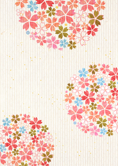 ซากุระ _ รูปทรงกลม _ กระดาษญี่ปุ่น _ พื้นหลังแนวยาว 2181