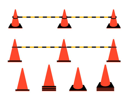 Color cone set for construction