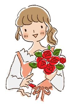 Flower shop clerk