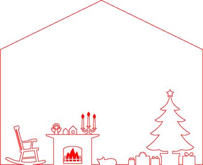 Christmas house type frame 3