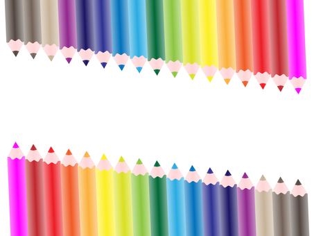 Colorful frames and backgrounds_colored pencils
