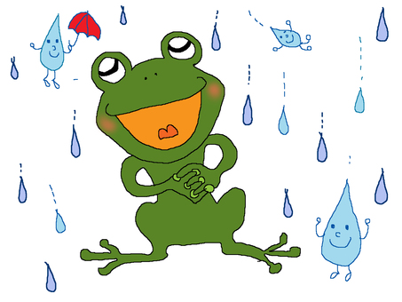 The frog 's song is ♪ ♪