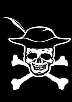 ドクロ、ガイコツ、海賊