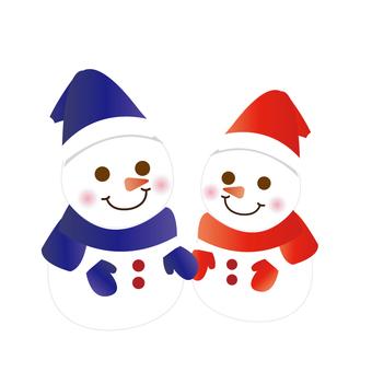 A friend snowman