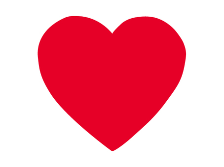 Big heart red