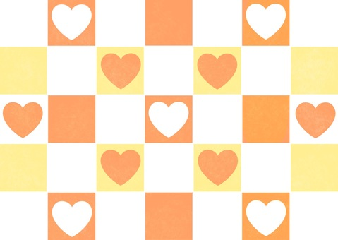 Orange Checker Flag Pattern Wallpaper