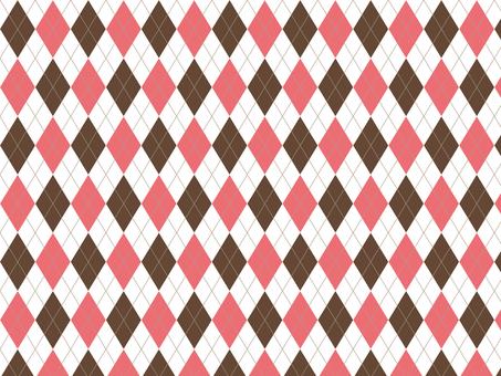 Argyle - Pink × Brown