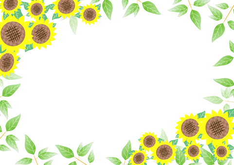 Green and sunflower frame 2