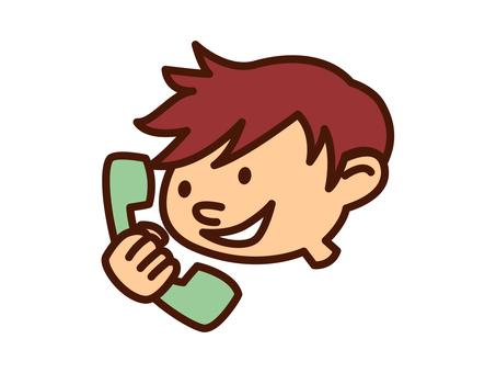 A boy calling