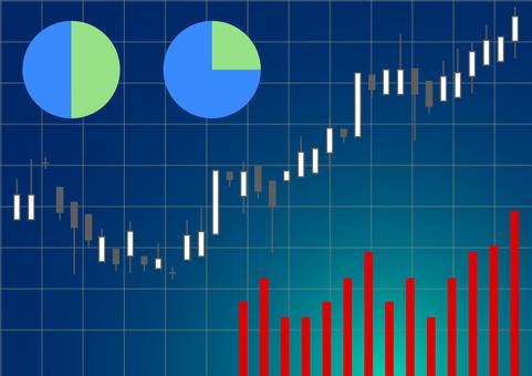 Stock chart pie chart bar graph