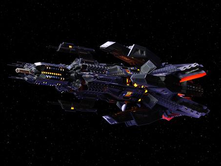 エイリアン巨大戦艦