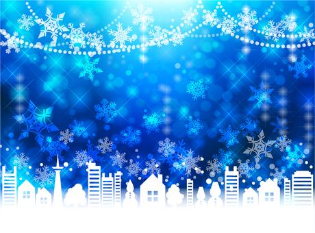 Christmas Street Frame Blue