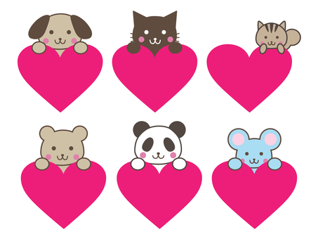 Hearts and animals