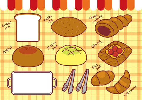 Bread bakery illustration