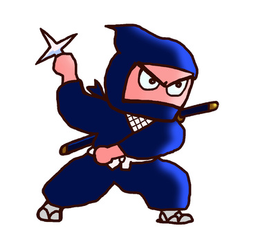 Ninja holding a cross shuriken