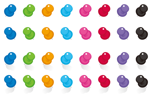 Colorful thumbtack