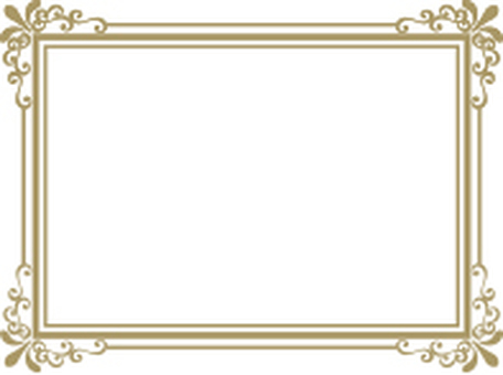Decorative frame gold rectangle